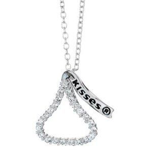 Sterling Silver Hershey's Kisses Necklace